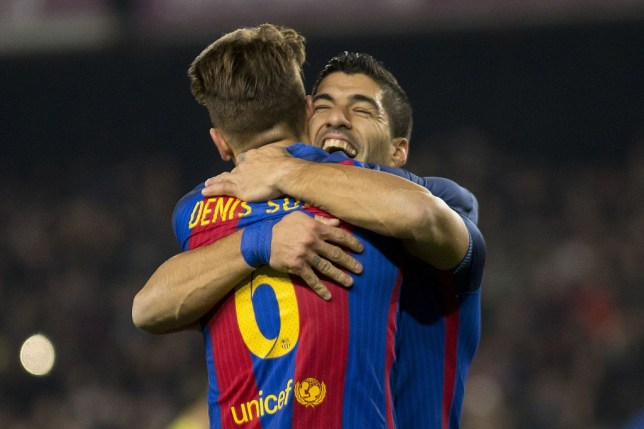 Image result for denis suarez with luis suarez