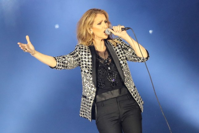 Celine Dion performs in Nice in 2017