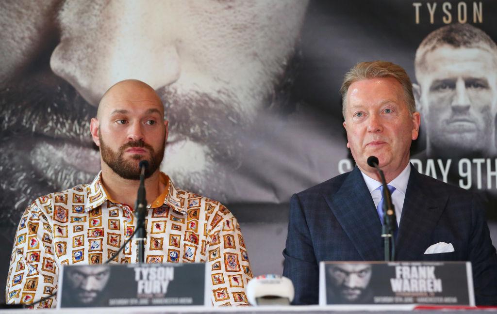 Tyson Fury sent 'derisory' offer to fight Anthony Joshua by Eddie Hearn, claims Frank Warren