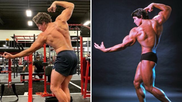 Arnold Schwarzenegger's son is spitting image of dad as he recreates Arnie's iconic muscle pose