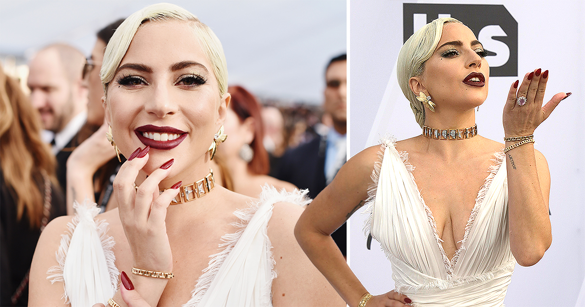 Screen Actors Guild Awards: Lady Gaga slays in white after surprise duet with Bradley Cooper