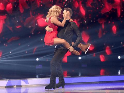Dancing On Ice's Brian McFadden lifts partner Alex Murphy despite dislocating shoulder