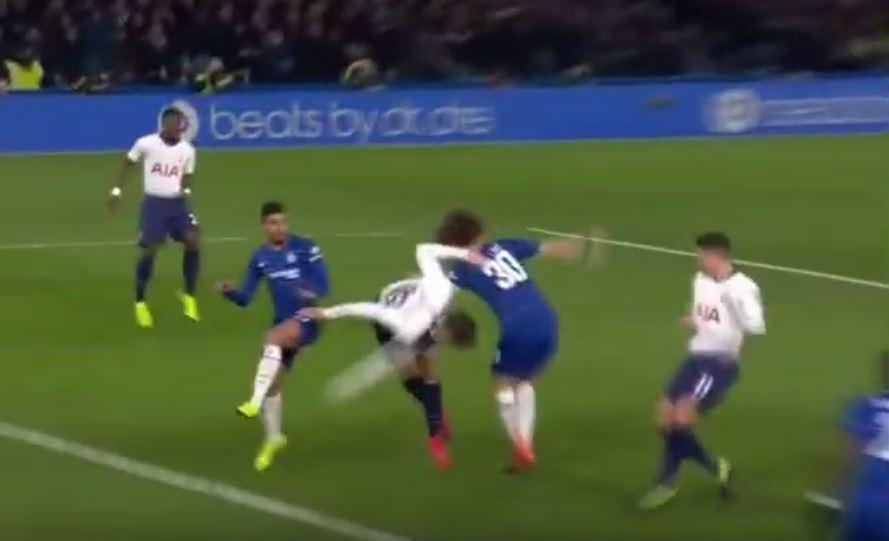 Chelsea fans slam David Luiz for facing the wrong way as Fernando Llorente scores