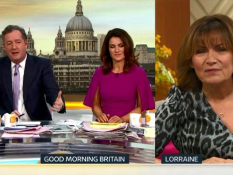 Piers Morgan's clash with politician who called Churchill a 'white supremacist' fires up Lorraine Kelly