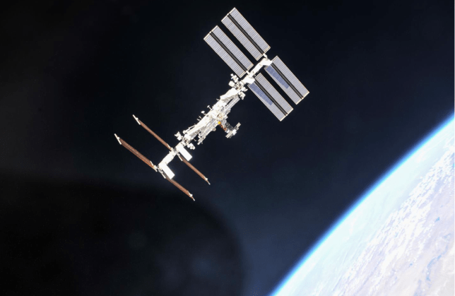 Scientists discovered 'tenacious' bacteria capable of causing lethal lung infections aboard the orbital space base (Image: Nasa)