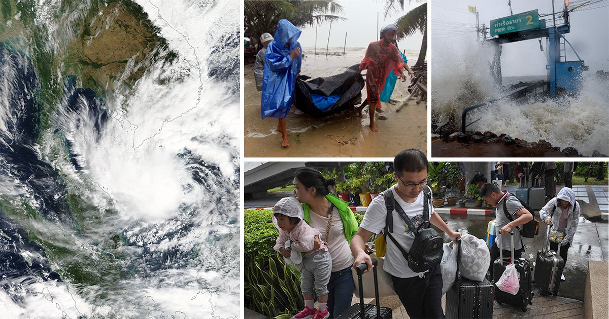 British tourists flee Thailand as worst storm in 30 years heads for country