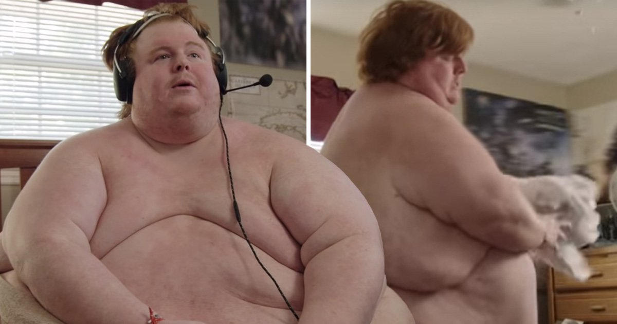 Man who weighs 50 stone predicts he will eat himself to death