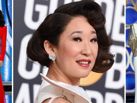 These are all Sandra Oh's incredible outfits at the Golden Globes