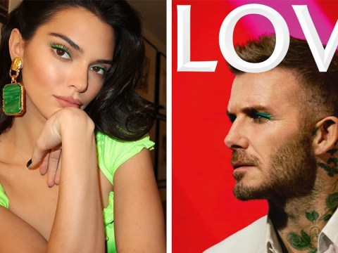 David Beckham takes style tips from Kendall Jenner on the cover of LOVE magazine