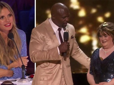 Susan Boyle bigged up by Terry Crews and Heidi Klum after landing golden buzzer on America's Got Talent: The Champions