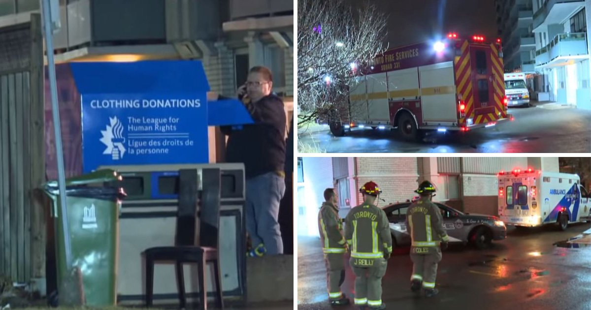 Woman dies after getting trapped inside clothing donation bin