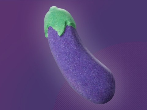 Just to be clear, you definitely shouldn't use Lush's aubergine bath bomb as a dildo