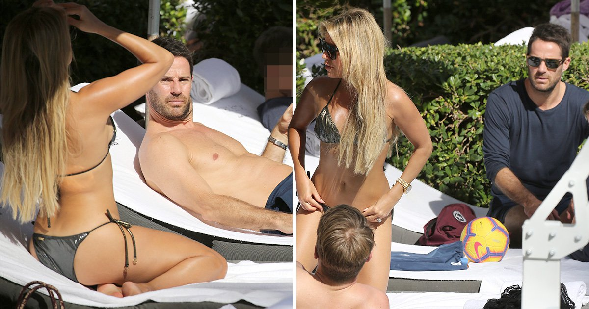 Jamie Redknapp gets his suntan on as he holidays in Miami