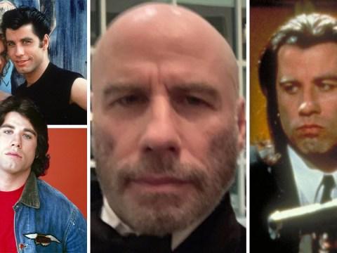 Evolution of John Travolta's hair styles as actor embraces his bald head