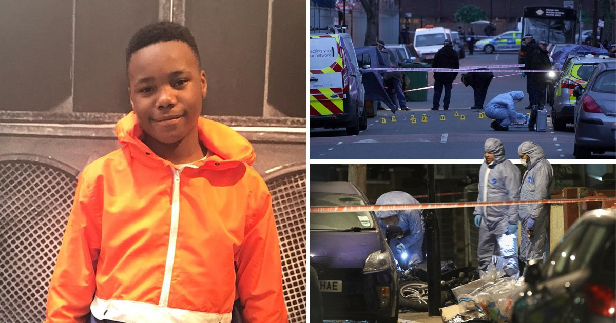 Car 'used to ram boy, 14, off moped before he was stabbed to death is found'