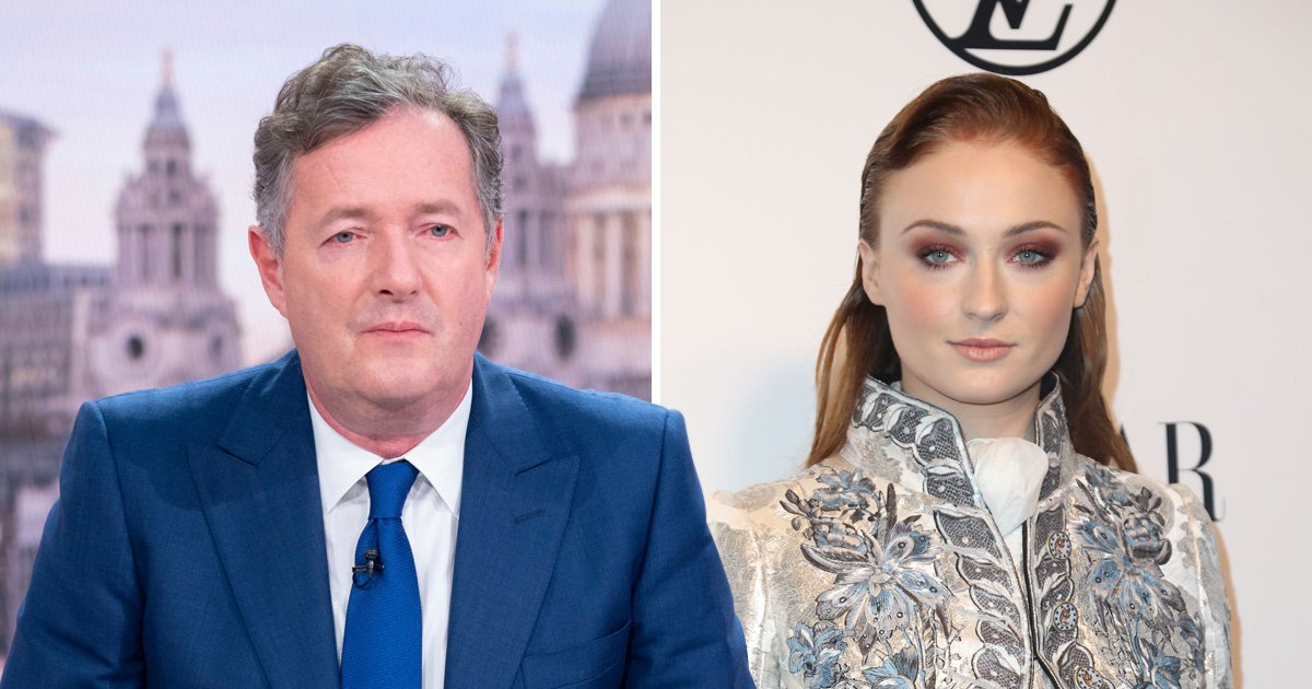 Piers Morgan and Sophie Turner go head to head as he accuses celebrities of trying to make mental illness 'fashionable'