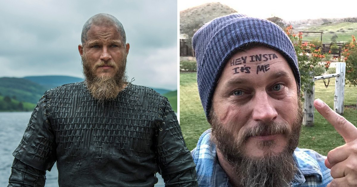 Vikings fans crown their king all over again as Travis Fimmel finally joins the world of the social