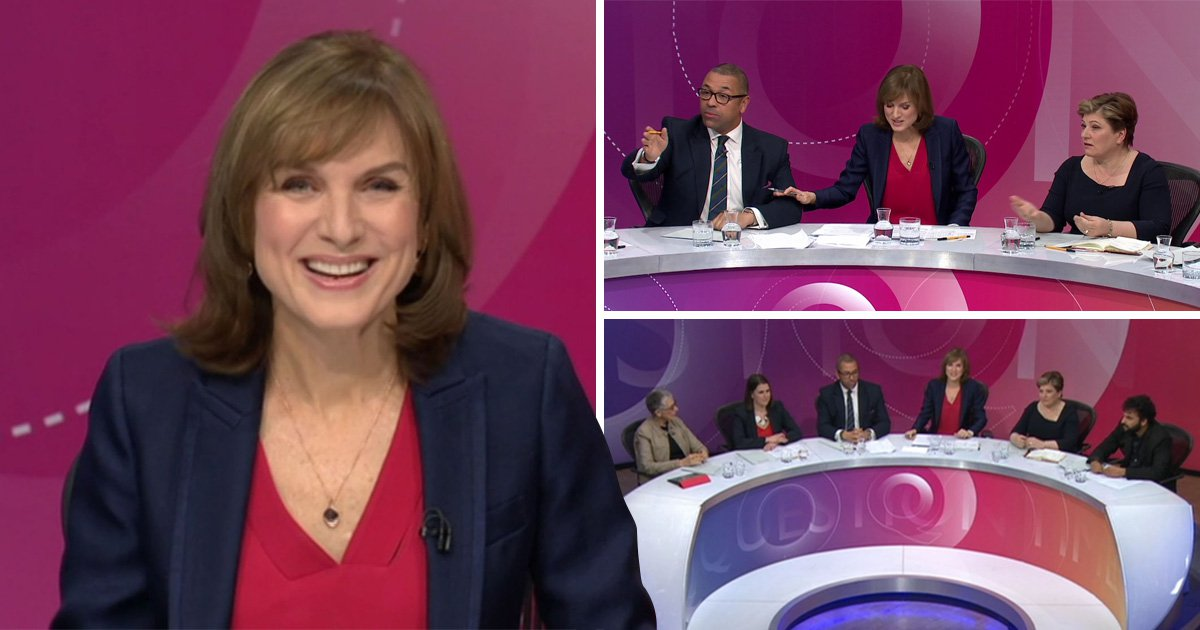 Question Time viewers pretty impressed with Fiona Bruce as she takes over from David Dimbleby