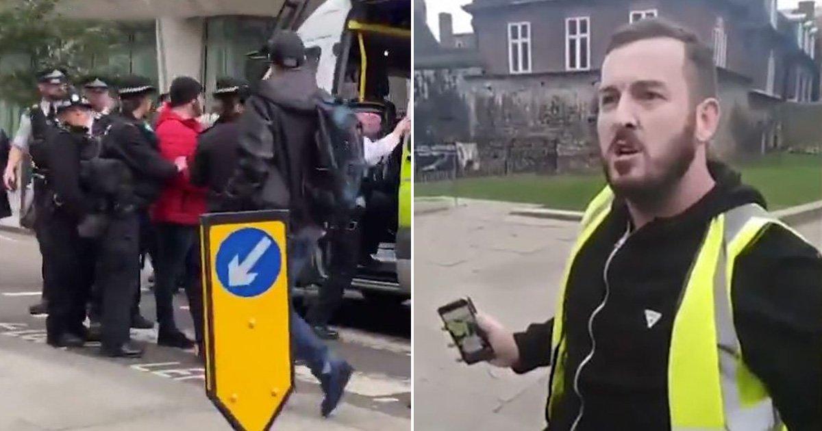 'Yellow vest' organiser James Goddard arrested in London