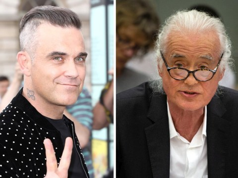 Robbie Williams 'blasting Black Sabbath' at Led Zeppelin's Jimmy Page over extension row