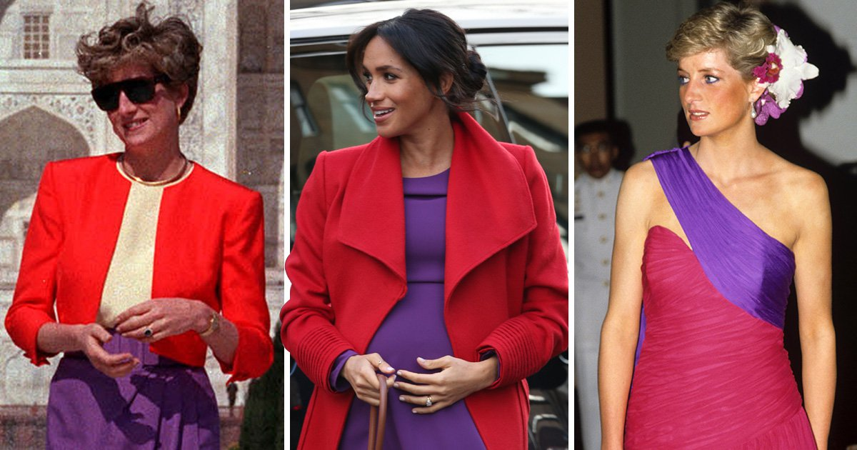 Meghan pays tribute to Princess Diana with colour clash outfit