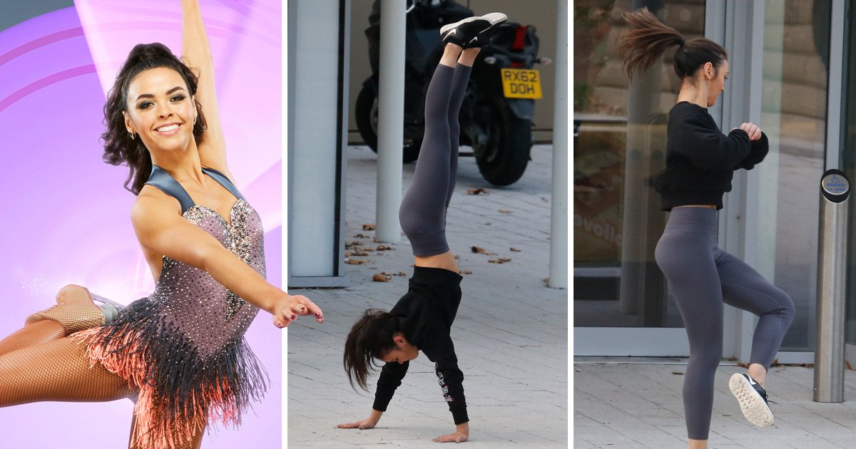 Wes Nelson's Dancing on Ice partner Vanessa Bauer dusts off Megan Barton row by handstanding to work and why not?
