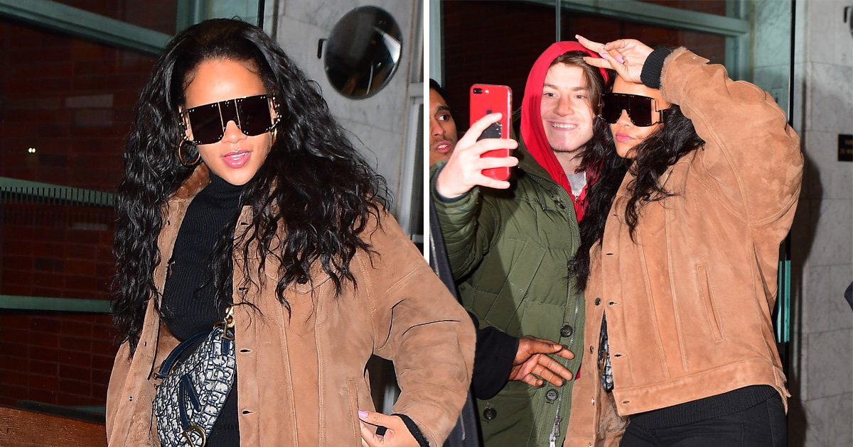 Rihanna is way too chic for the dentist as she shows off pearly whites amid legal battle with father
