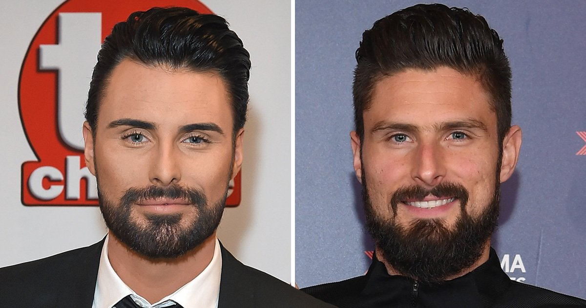 Rylan Clark-Neal trolls fans with epic 10 Year Challenge as he trades places with Olivier Giroud