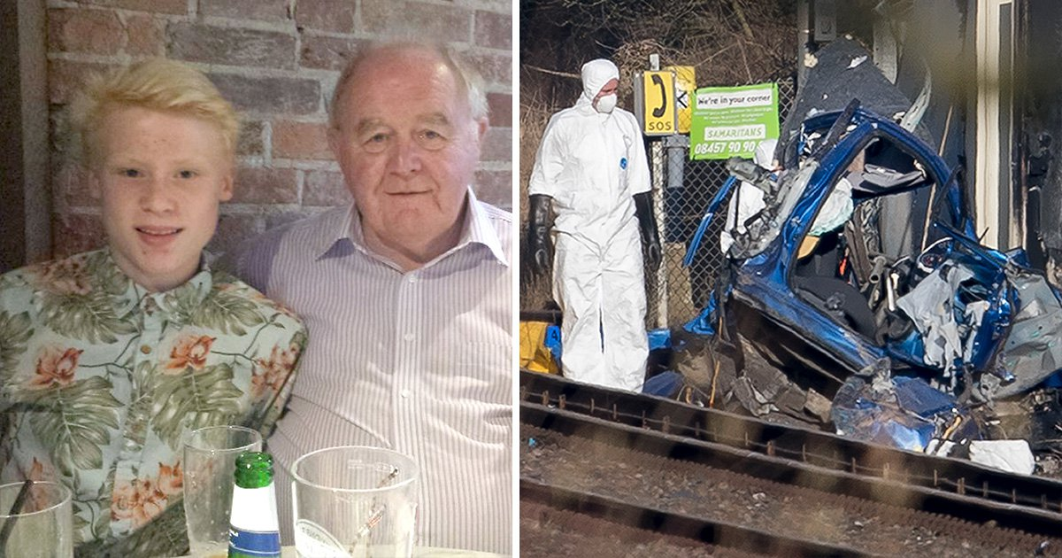 Pensioner and grandson killed instantly on level crossing after 'ignoring barrier'