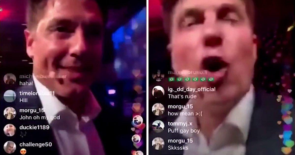 John Barrowman calls out man who uses homophobic slur against him