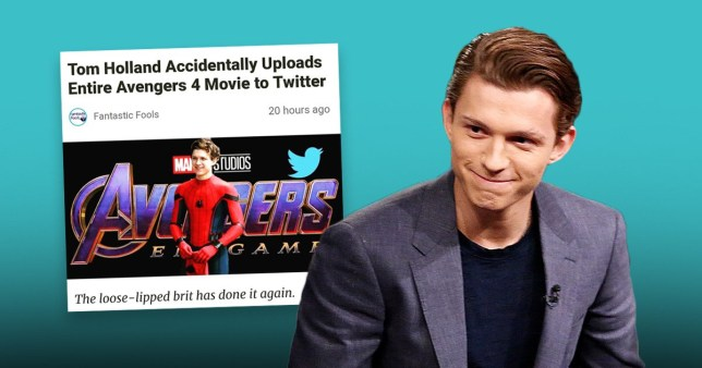 Tom Holland Convinced He Leaked Avengers Endgame After Fake