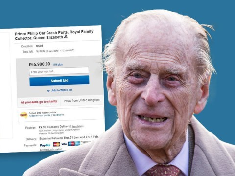 Bids for Duke of Edinburgh's 'crash debris' on eBay reach almost £66,000