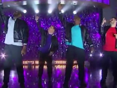 James Corden recruits massive NFL players to form dance troupe