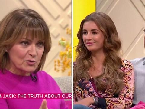 Lorraine scolds Dani Dyer and Jack Fincham for posting break-up on social media: 'Listen!'