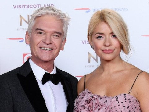 Holly Willoughby is pretty in pink at the National Television Awards 2019 as she stuns in polka dot gown