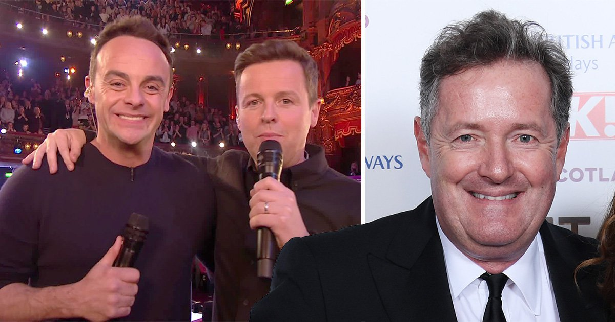 Piers Morgan throws shade at Ant McPartlin after he wins TV Presenter at NTAs 2019