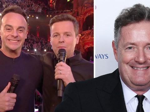Piers Morgan throws shade at Ant McPartlin after he wins TV Presenter at NTAs 2019
