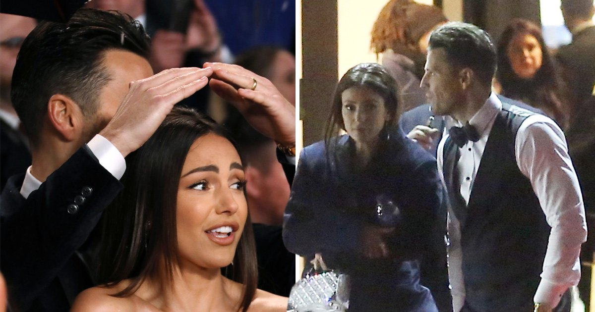 Mark Wright and Michelle Keegan are couple goals at NTAs as Mark protects her hair and offers his jacket