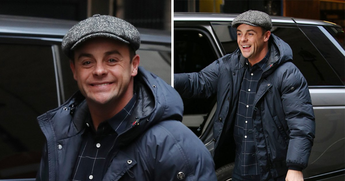 Ant McPartlin beaming as he arrives at Britain's Got Talent auditions after NTA win