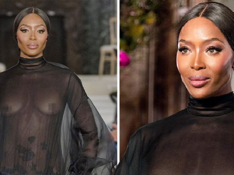 Naomi Campbell goes braless at Valentino fashion show and Liam Payne is probably swooning somewhere