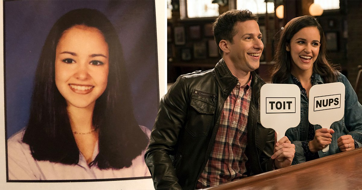 Brooklyn 99's Melissa Fumero shares adorable throwback Amy Santiago would be proud of