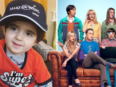The Big Bang Theory cast send three heartwarming videos to four-year-old battling inoperable brain tumour