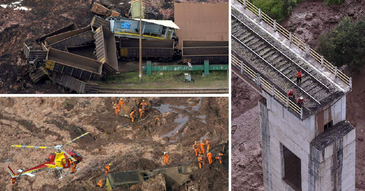 Seven dead and more than 200 missing after dam bursts in Brazil