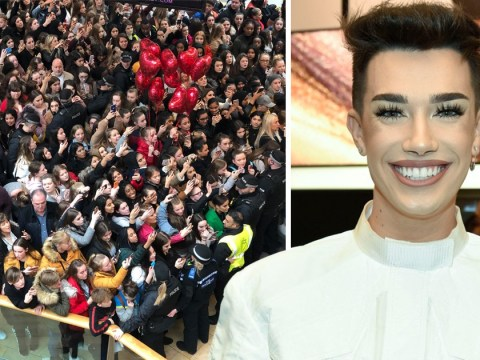 James Charles fans bring Birmingham Bullring to standstill as he visits UK for first time – teases he'll be back 'very, very soon'