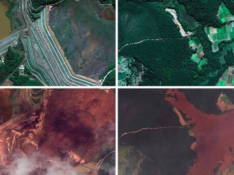 Aerial pictures reveal dam collapse devastation with death toll still rising