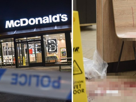 Man stabbed near McDonald's runs into restaurant screaming for help