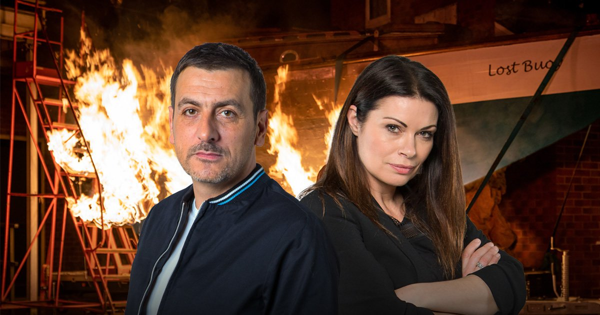 Carla and Peter face fire horror in Coronation Street