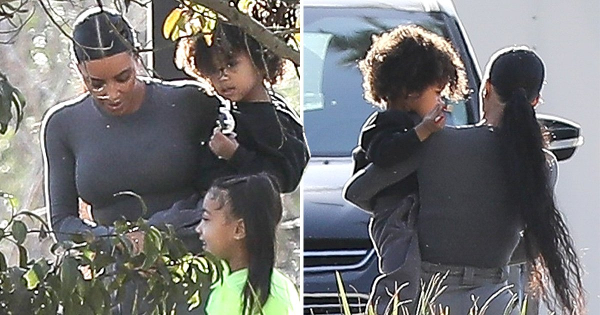 Kim Kardashian straightens North's hair again after insisting the hairstyle is only a birthday treat