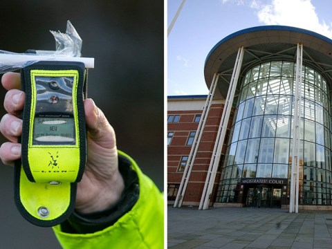 Driver was six times over limit after downing nearly a bottle of wine
