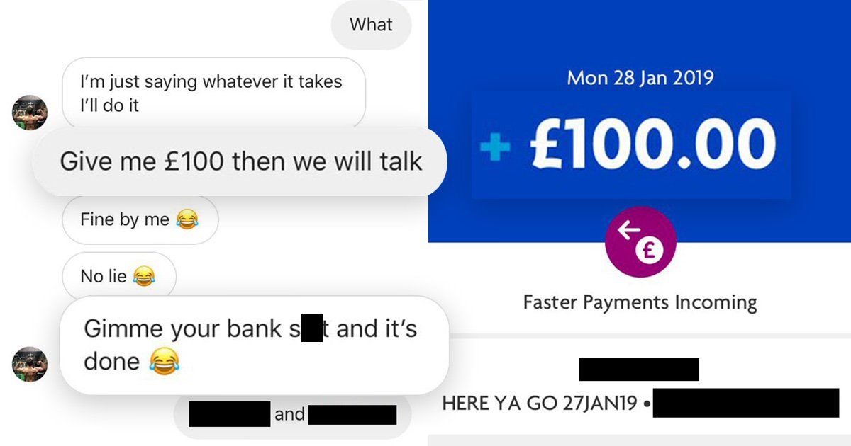 Woman charges cheating ex £100 just for the privilege of talking to her